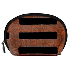 Stainless Rust Texture Background Accessory Pouches (large)