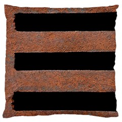 Stainless Rust Texture Background Large Flano Cushion Case (one Side)