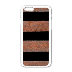 Stainless Rust Texture Background Apple Iphone 6/6s White Enamel Case