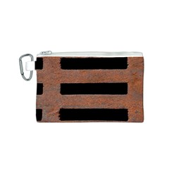Stainless Rust Texture Background Canvas Cosmetic Bag (s)