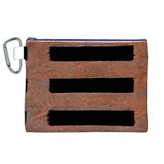Stainless Rust Texture Background Canvas Cosmetic Bag (xl)