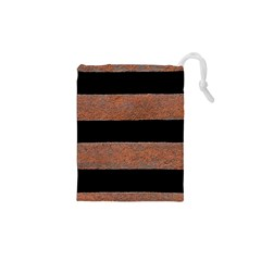 Stainless Rust Texture Background Drawstring Pouches (XS)