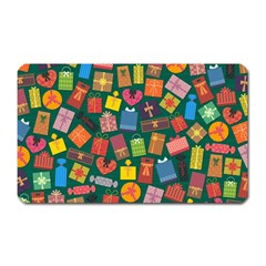 Presents Gifts Background Colorful Magnet (Rectangular)