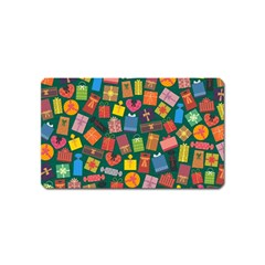 Presents Gifts Background Colorful Magnet (name Card)