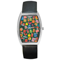 Presents Gifts Background Colorful Barrel Style Metal Watch