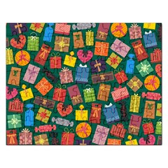Presents Gifts Background Colorful Rectangular Jigsaw Puzzl