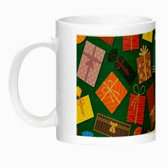 Presents Gifts Background Colorful Night Luminous Mugs