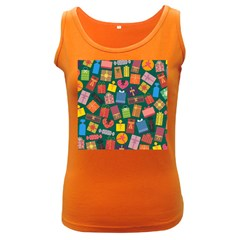 Presents Gifts Background Colorful Women s Dark Tank Top