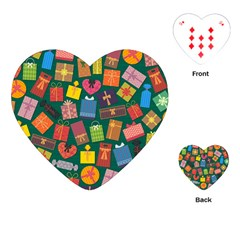Presents Gifts Background Colorful Playing Cards (heart)