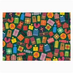 Presents Gifts Background Colorful Large Glasses Cloth (2 Side)