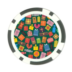 Presents Gifts Background Colorful Poker Chip Card Guards