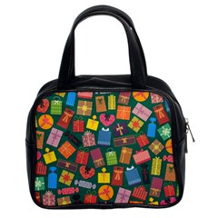 Presents Gifts Background Colorful Classic Handbags (2 Sides)