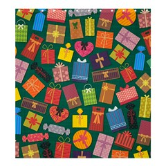 Presents Gifts Background Colorful Shower Curtain 66  x 72  (Large)