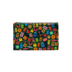 Presents Gifts Background Colorful Cosmetic Bag (small)
