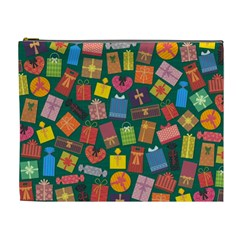 Presents Gifts Background Colorful Cosmetic Bag (xl)