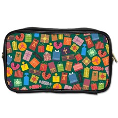 Presents Gifts Background Colorful Toiletries Bags 2 Side