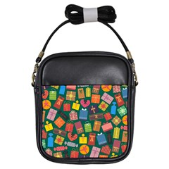 Presents Gifts Background Colorful Girls Sling Bags
