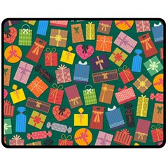 Presents Gifts Background Colorful Fleece Blanket (medium)