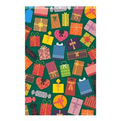 Presents Gifts Background Colorful Shower Curtain 48  X 72  (small)