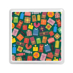 Presents Gifts Background Colorful Memory Card Reader (square)