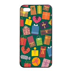 Presents Gifts Background Colorful Apple Iphone 4/4s Seamless Case (black)