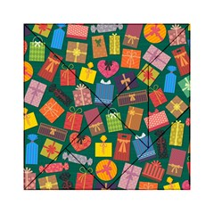 Presents Gifts Background Colorful Acrylic Tangram Puzzle (6  X 6 )