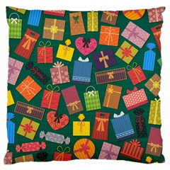 Presents Gifts Background Colorful Large Cushion Case (two Sides)