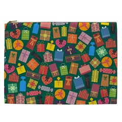 Presents Gifts Background Colorful Cosmetic Bag (xxl)