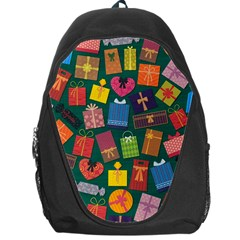 Presents Gifts Background Colorful Backpack Bag