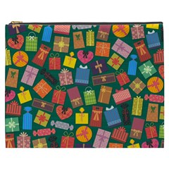 Presents Gifts Background Colorful Cosmetic Bag (xxxl)