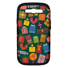 Presents Gifts Background Colorful Samsung Galaxy S III Hardshell Case (PC+Silicone)