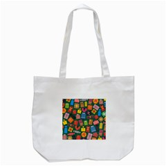 Presents Gifts Background Colorful Tote Bag (white)