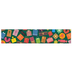 Presents Gifts Background Colorful Flano Scarf (small)