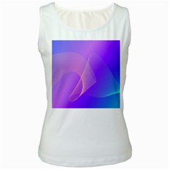 Vector Blend Screen Saver Colorful Women s White Tank Top