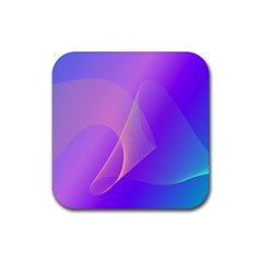 Vector Blend Screen Saver Colorful Rubber Square Coaster (4 Pack)