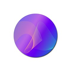 Vector Blend Screen Saver Colorful Rubber Round Coaster (4 Pack)