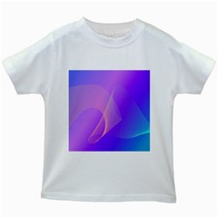 Vector Blend Screen Saver Colorful Kids White T-Shirts