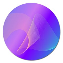 Vector Blend Screen Saver Colorful Magnet 5  (round)