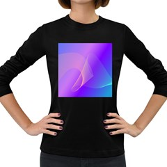 Vector Blend Screen Saver Colorful Women s Long Sleeve Dark T Shirts