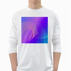 Vector Blend Screen Saver Colorful White Long Sleeve T Shirts