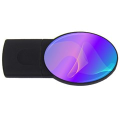 Vector Blend Screen Saver Colorful Usb Flash Drive Oval (4 Gb)
