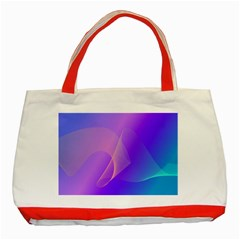 Vector Blend Screen Saver Colorful Classic Tote Bag (red)