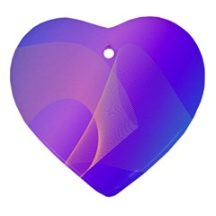 Vector Blend Screen Saver Colorful Heart Ornament (2 Sides)