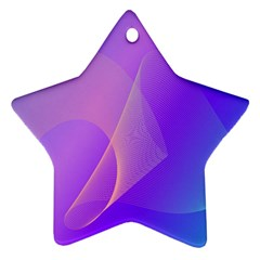 Vector Blend Screen Saver Colorful Star Ornament (Two Sides)