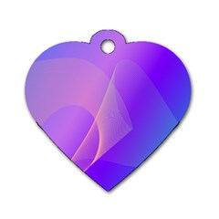 Vector Blend Screen Saver Colorful Dog Tag Heart (one Side)