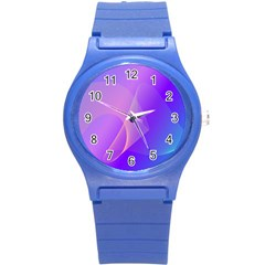 Vector Blend Screen Saver Colorful Round Plastic Sport Watch (s)