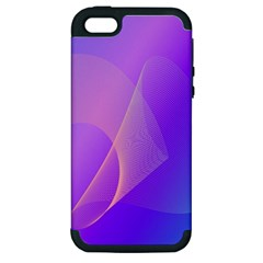 Vector Blend Screen Saver Colorful Apple Iphone 5 Hardshell Case (pc+silicone)