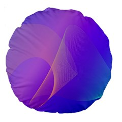 Vector Blend Screen Saver Colorful Large 18  Premium Round Cushions
