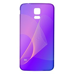 Vector Blend Screen Saver Colorful Samsung Galaxy S5 Back Case (white)