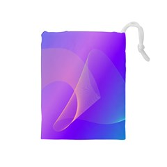 Vector Blend Screen Saver Colorful Drawstring Pouches (medium)